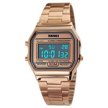 Zegarek SKMEI 1123 LED bransoleta RETRO rose gold