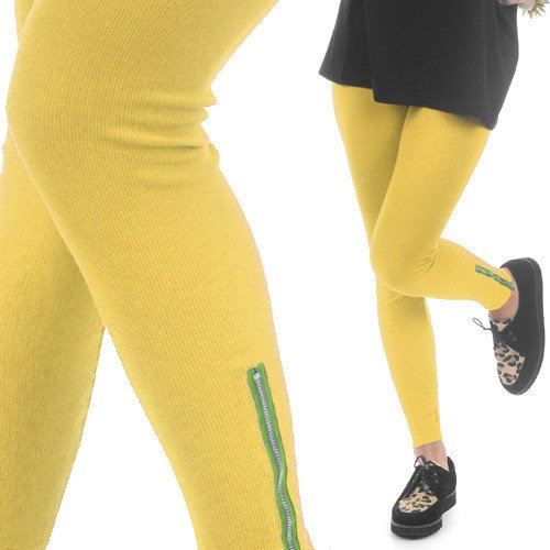 LEGGINSY YELLOW ZIP